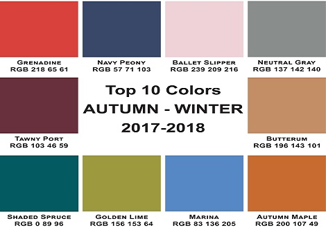 Top 10 Autumn colours