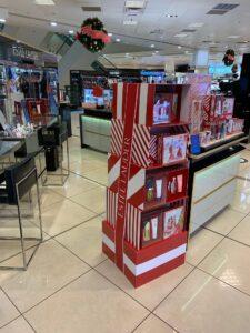 Estee Lauder Christmas display